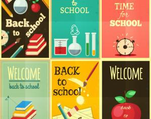 Back to school set of illustrations Photoshop brush