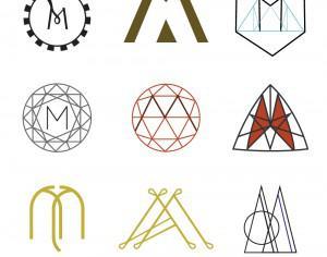 Letter M Monograms Photoshop brush