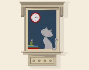 Cat At Window Photoshop brush