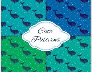 Whale pattern  Photoshop brush