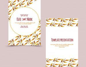 Invitation card with floral background Photoshop brush
