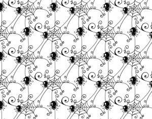 Pattern with spider web background Photoshop brush