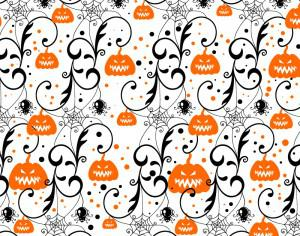 Halloween background with pumpkin Photoshop brush