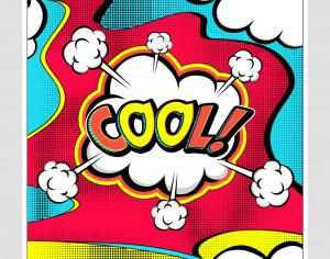Comic book pop-art explosion Photoshop brush