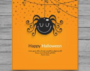 Halloween spider card Photoshop brush