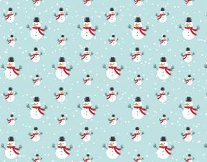 Christmas pattern with snow man Photoshop brush