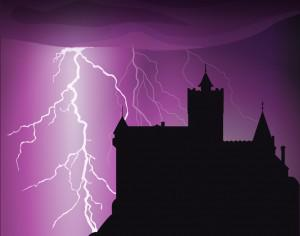 Halloween castle background Photoshop brush