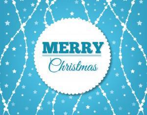 Christmas background with badge Photoshop brush