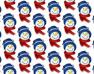 Christmas pattern with snowman head Photoshop brush