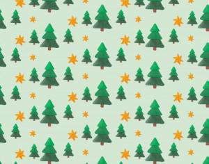 Christmas pattern with trees and stars Photoshop brush