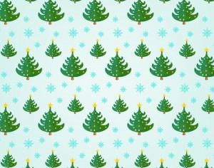 Christmas pattern with Christmas trees Photoshop brush