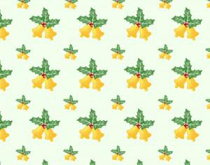 Christmas pattern with leaves and bells Photoshop brush