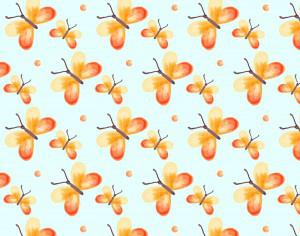 Watercolor pattern with butterflies Photoshop brush