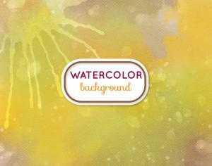 Watercolor background with frame Photoshop brush