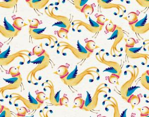 Watercolor background with cute birds Photoshop brush