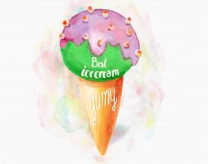Watercolor Ice cream background Photoshop brush