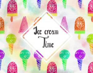 Watercolor Ice cream background Photoshop brush