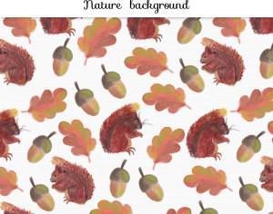 Watercolor autumn background Photoshop brush