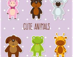 Cute set of animals Photoshop brush