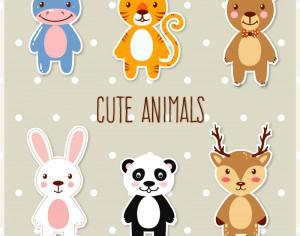Cute set of animals Photoshop brush