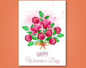 Women's Day Romantic  Card Photoshop brush