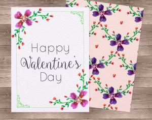 Watercolor Valentine'Day Cards Photoshop brush