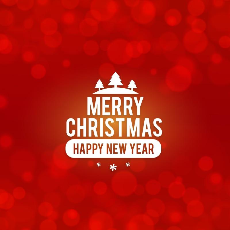 Christmas background with typography Photoshop brush