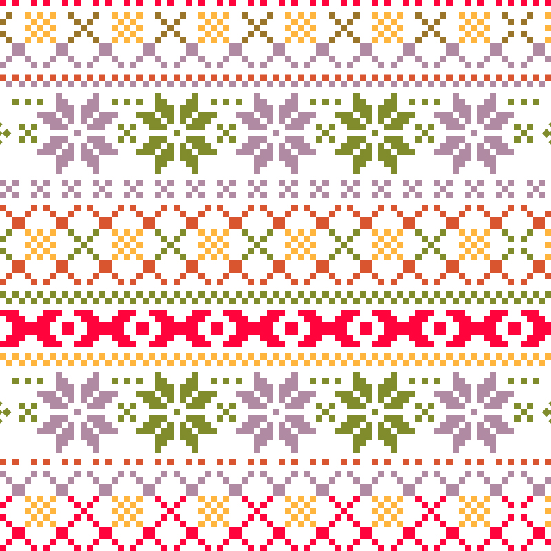 Christmas pattern with christmas  Photoshop brush