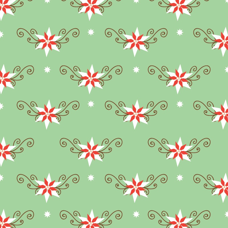Christmas pattern with christmas decorations Photoshop brush
