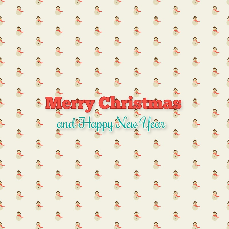 Christmas background with typography and christmas tree Photoshop brush