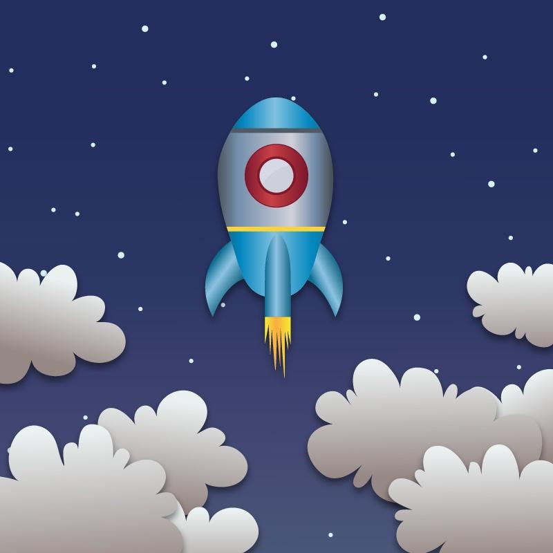 Space rocket launch Photoshop brush