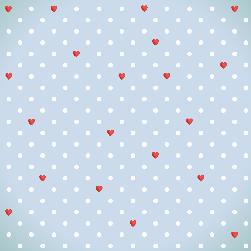 Love pattern with red hearts  Photoshop brush