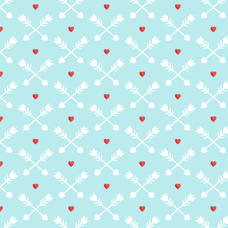 Love pattern with red hearts and arrows Photoshop brush