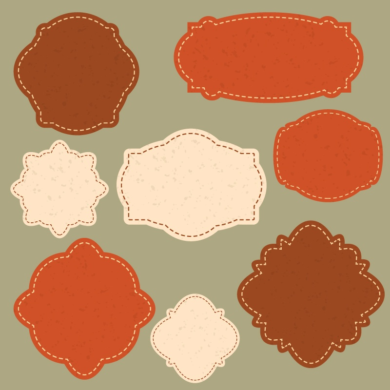 Frames vector set Photoshop brush