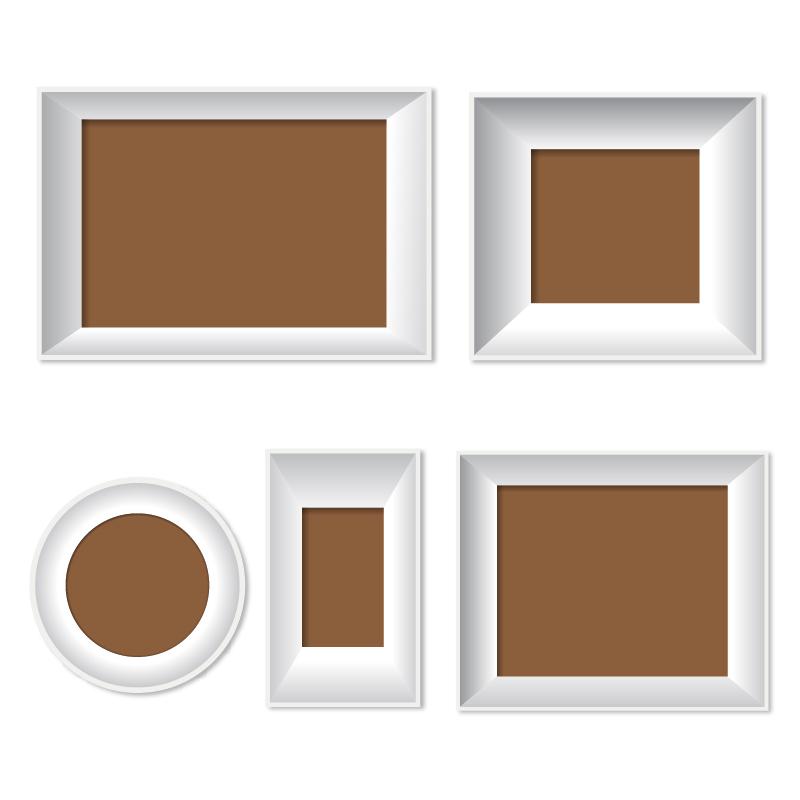 Vector set of frames Photoshop brush