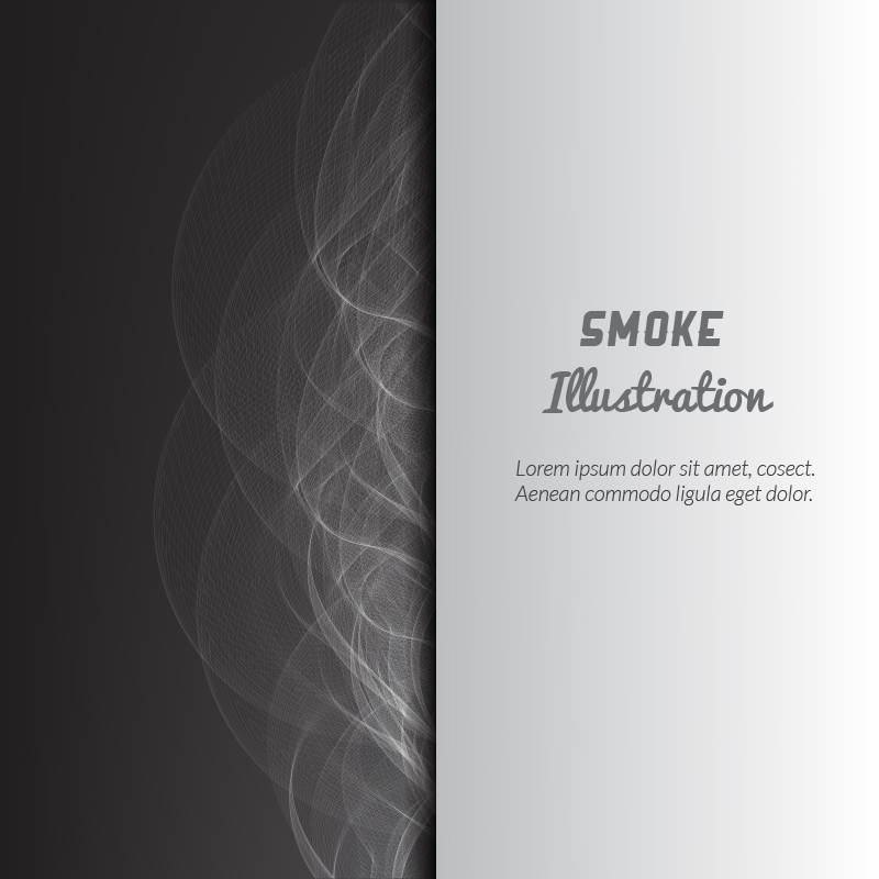 Smoke vector illustration Photoshop brush
