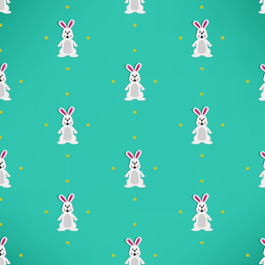 Easter pattern with rabbits Photoshop brush