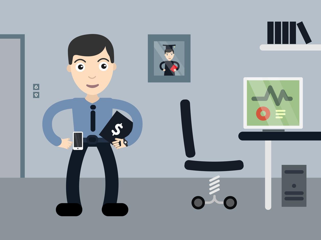 Businessman profession vector character illustration Photoshop brush