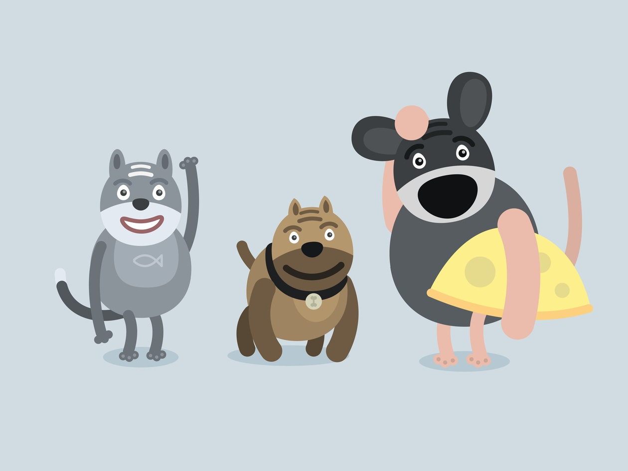 Vector cartoon characters illustration Photoshop brush