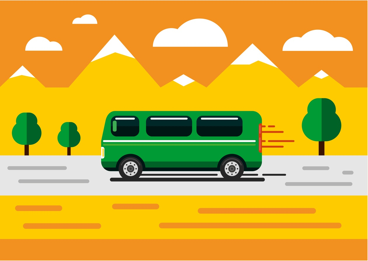 Vector transport illustration for design Photoshop brush