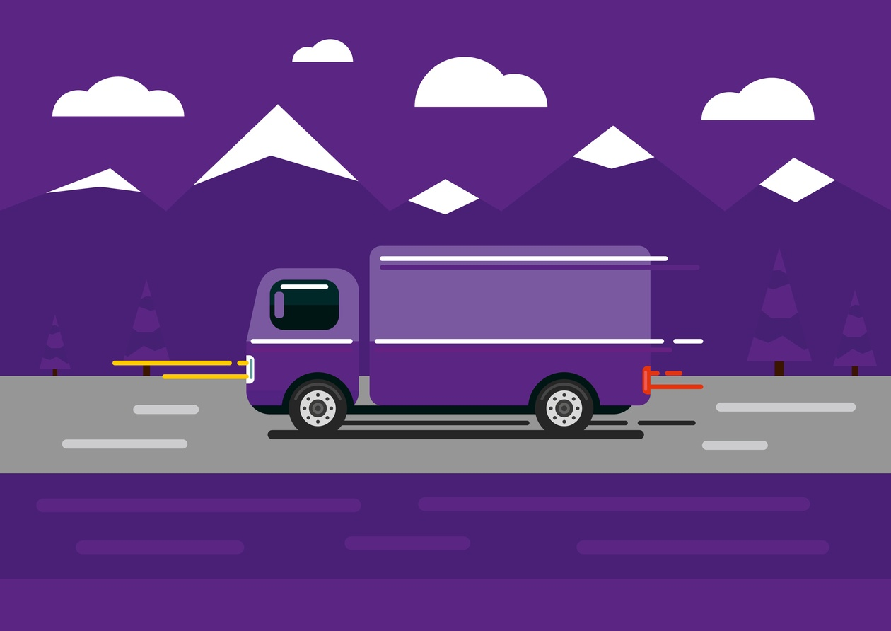 Vector transport illustration for design Photoshop brush