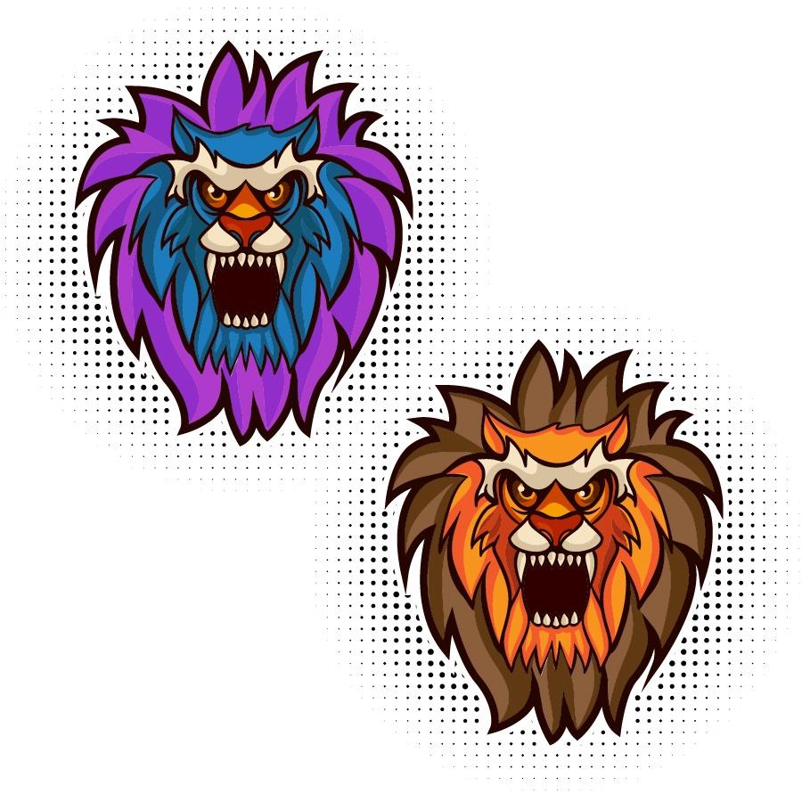 Lion vector mascot Photoshop brush