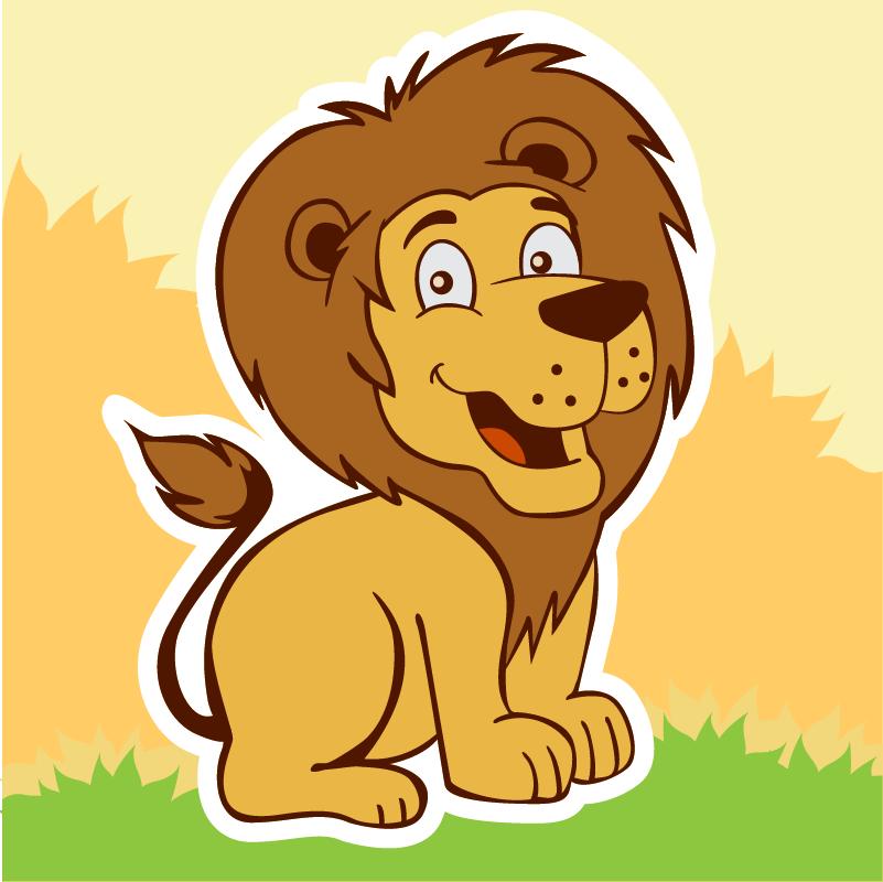 Smiling lion Photoshop brush