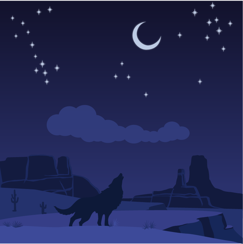 Desert wolf Photoshop brush