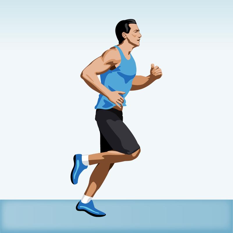 Man jogging Photoshop brush
