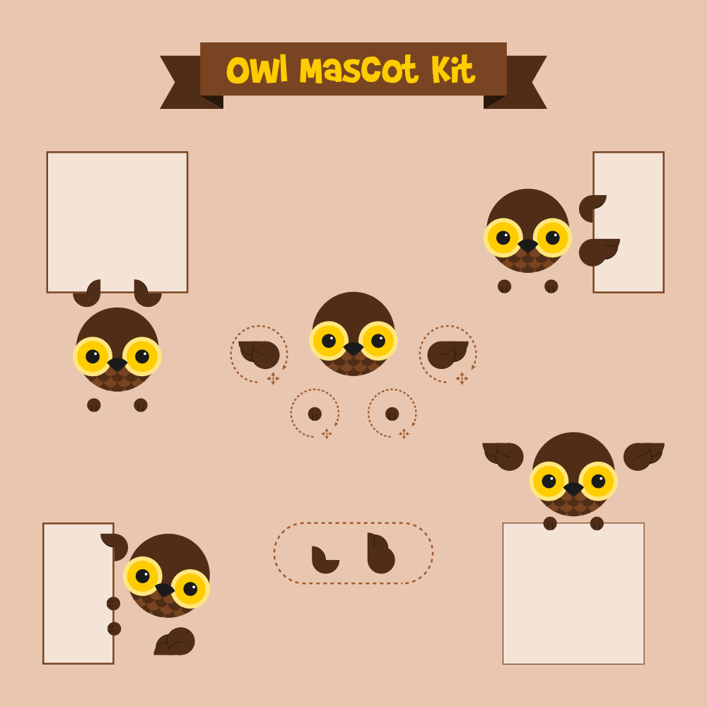 Owl mascot Photoshop brush