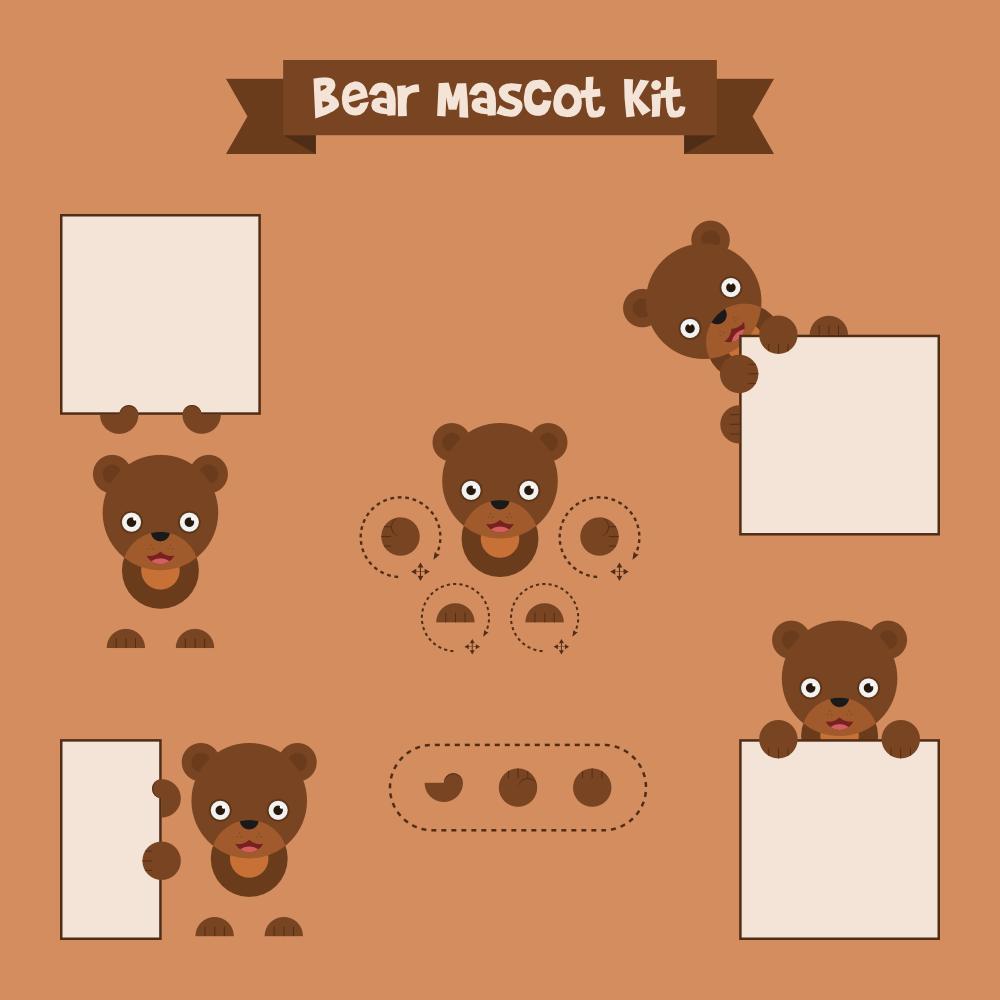 Bear mascot Photoshop brush