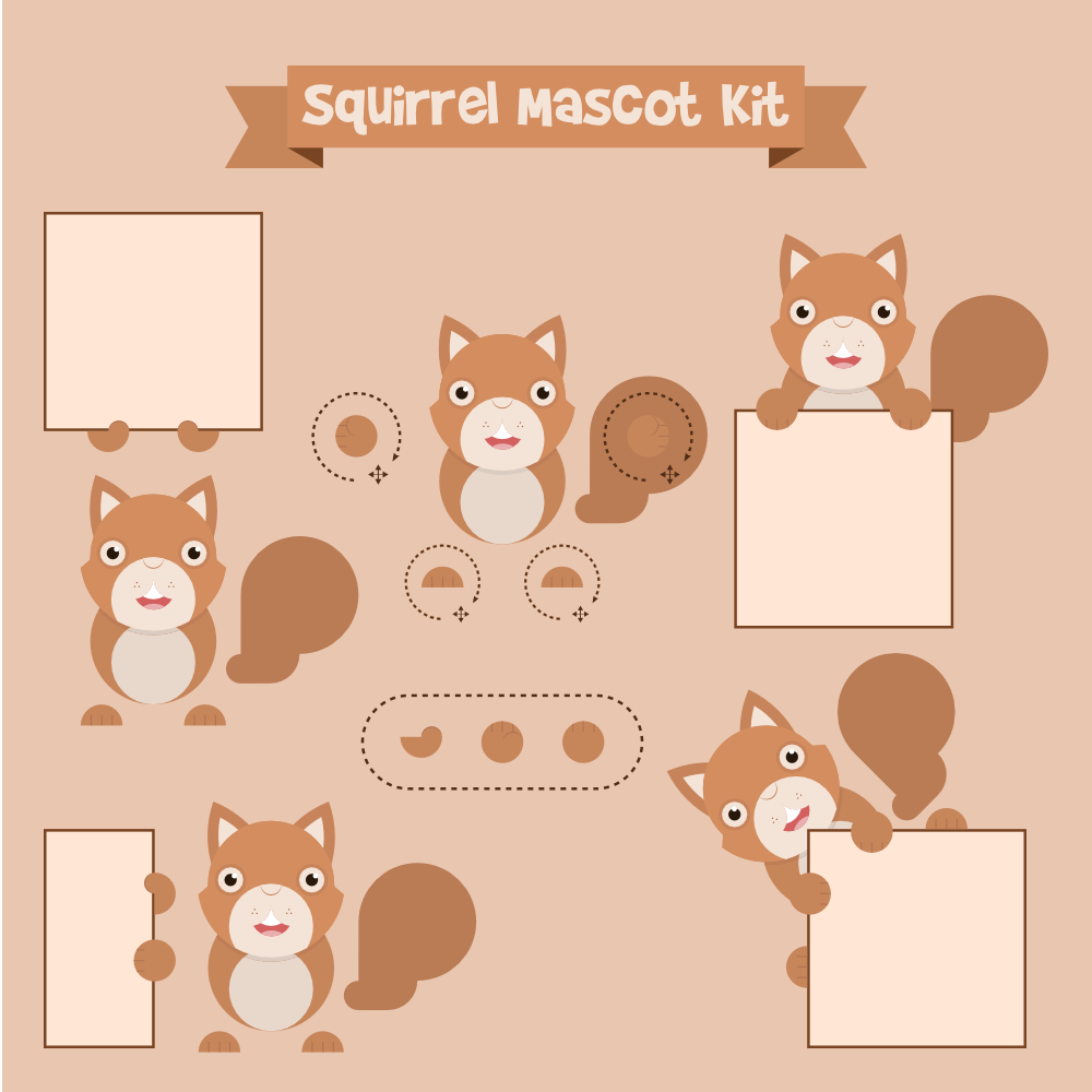 Squirrel mascot Photoshop brush