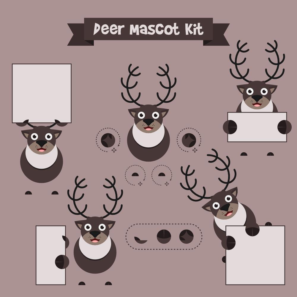 Deer mascot Photoshop brush