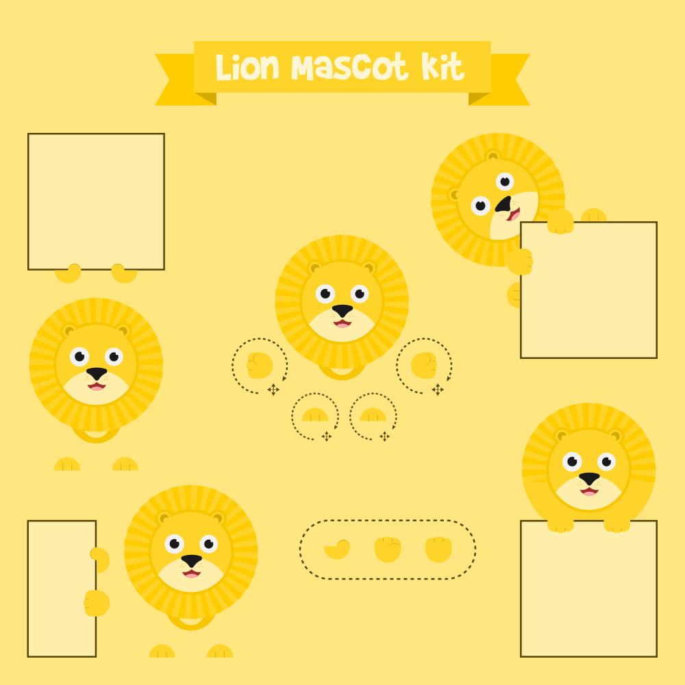 Lion mascot Photoshop brush